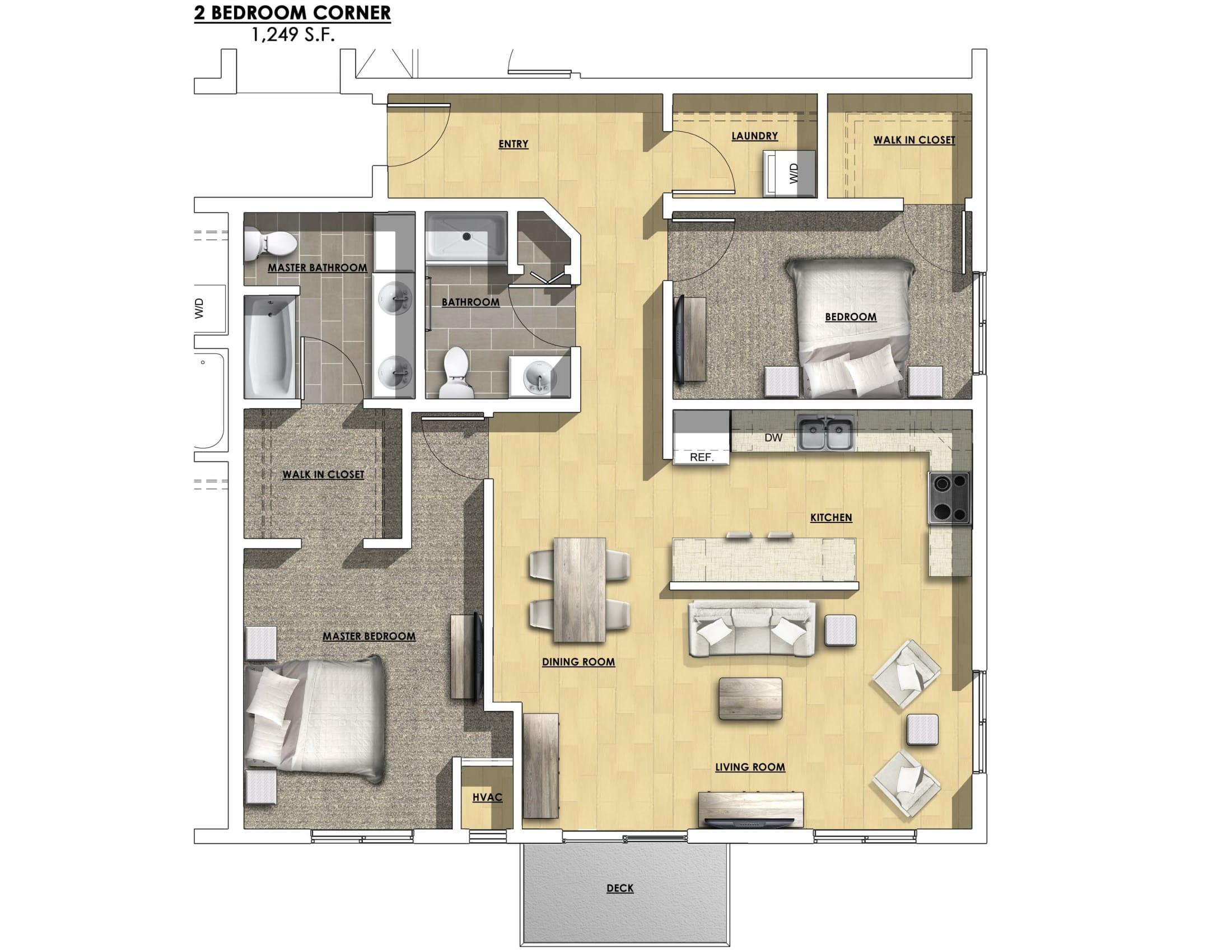 One Bedroom Unit Floor Plans